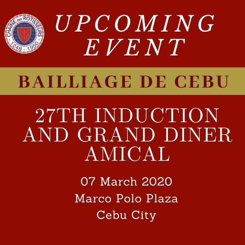 Cebu: 27th Induction and Grand Diner Amical